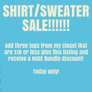 Tops - Sale!!!! Today only!